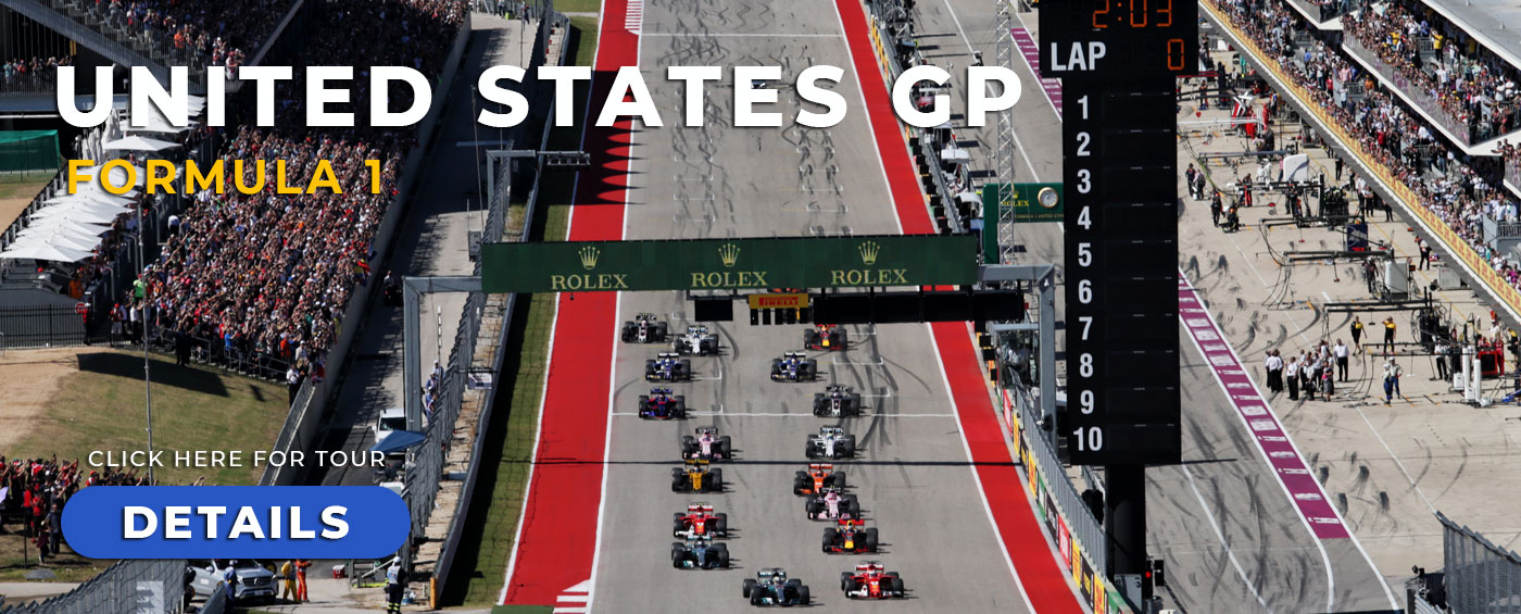 United States Grand Prix with Grand Prix Tours