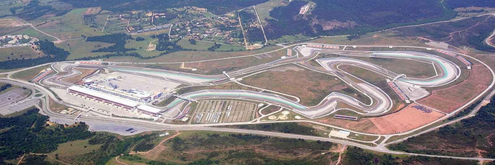 Istanbul Park racing circuit.